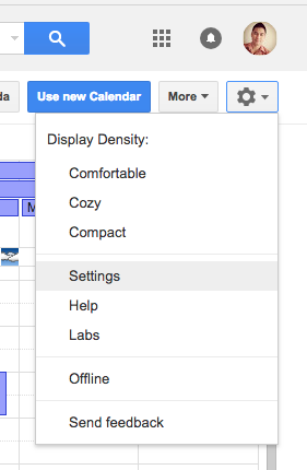 """Google calendar settings"""
