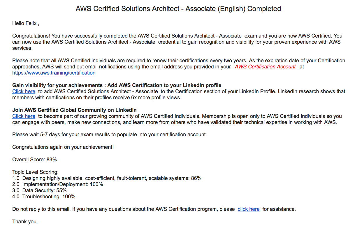 Aws Solution Architect Associate Certified